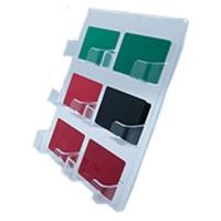 Kortholder med 6 rum til vægmontering. Stort udvalg i plastkort, kortprintere, kortholdere, lanyards, yoyo'er samt diverse tilbehør hos RD Data