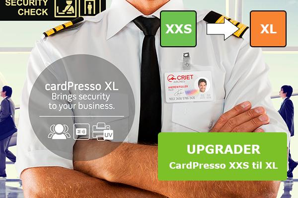Software opgradering fra CardPresso XXS til XL. Køb den på www.rddata.dk