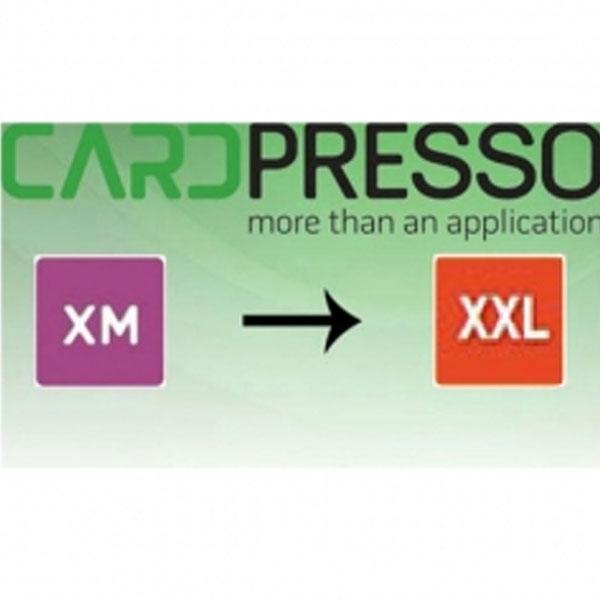Software opgradering fra CardPresso XM til XXL. Køb den på www.rddata.dk