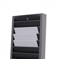 Vægskab, væghylde til 25 kort horisontal, solidt metal, Alt i plastkort, kortprintere og tilbehør hos RD Data