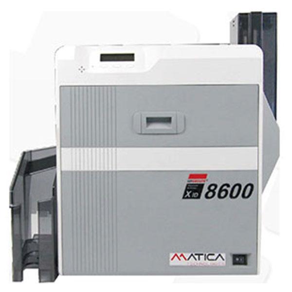 Matica XID 8600, duplex print i ekstra høj kvalitet. Print f.eks. microtekst som værn mod uautoriseret kopiering. Kortprinteren til offentlige og finansielle institutioner samt andre med behov for høj sikkerhed. 2 års garanti og fri hotline hos RD Data