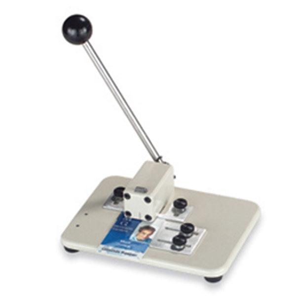 Stansemaskine professionel til det store behov, til lokning af aflangt hul 3 X 14 mm. til seleclips, halssnore m.m. Solid model, nem at betjene, fra RD Data
