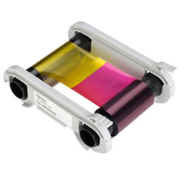 5½-PANEL FARVEBÅND YMCKO, Evolis Zenius og Primacy farvebånd YMCKO 5½-panel til 400 stk. print med farve på det halve af kortet. Produktnummer: R5H004NAA, fra RD Data