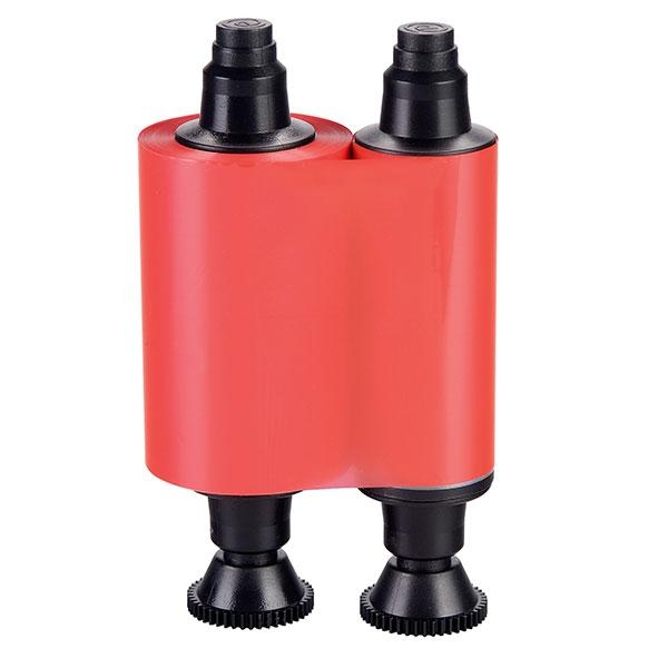 Rød/rødt farvebånd til model Evolis Pebble, Dualys, Securion og Quantum. Til 1.000 røde print. Produktnummer: R2013, fra RD Data