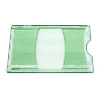 Grønt transparent etui i hård plast, kortholder, transparent, grøn, fra RD data