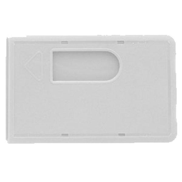 Hvid kortholder, hvidt etui i hård plast med fingerhul, altid kæmpe udvalg i plastkort og tilbehør hos RD Data