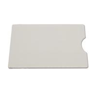 Hvidt transparent etui i hård plast. Fra RD Data