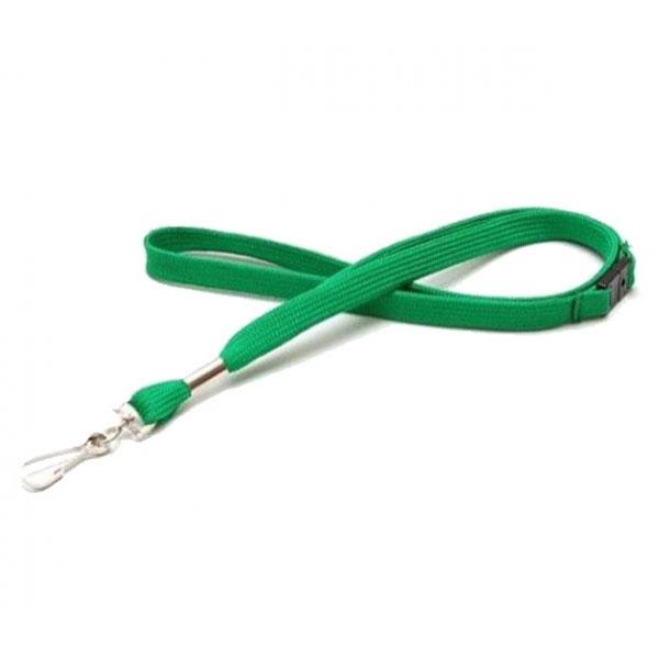 Blød grøn lanyard med metalkrog og break-away lås, 12 mm. Altid kæmpe udvalg og billige priser hos RD Data