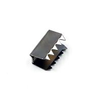 Metalklemme til polyester eller vævet lanyard, solid, stærk metalklemme, som gør lanyards ekstra holdbare og brudsikre.