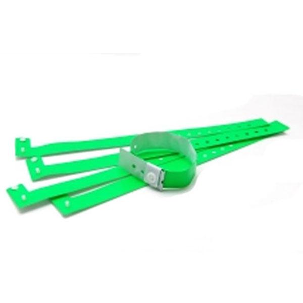 Vinyl armbånd grønne 20 mm Justerbar længde