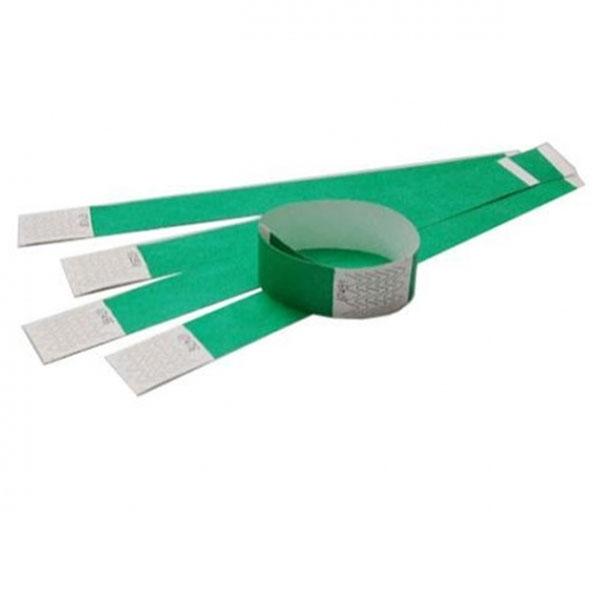 Tyvek armbånd grønne med nummer. Længde 255 mm. Bredde 25 mm.
