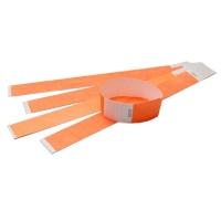 Tyvek armbånd orange med nummer. Længde 255 mm. Bredde 25 mm.