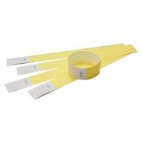 Tyvek armbånd gult med nr. Længde 255 mm. Bredde 25 mm.
