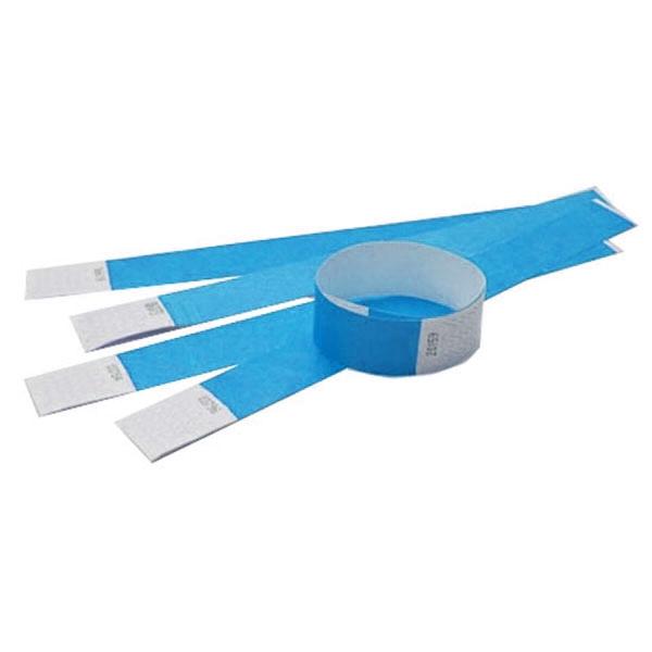 Tyvek armbånd blåt med nr. Længde 255 mm. Bredde 25 mm.