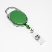 Grøn, praktisk og kraftig yoyo med nylonsnor, stærk fjederbelastet metalkrog og metaltryklås på båndet, fra RD Data