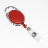 Rød, praktisk og kraftig yoyo med nylonsnor, stærk fjederbelastet metalkrog og metaltryklås på båndet, fra RD Data