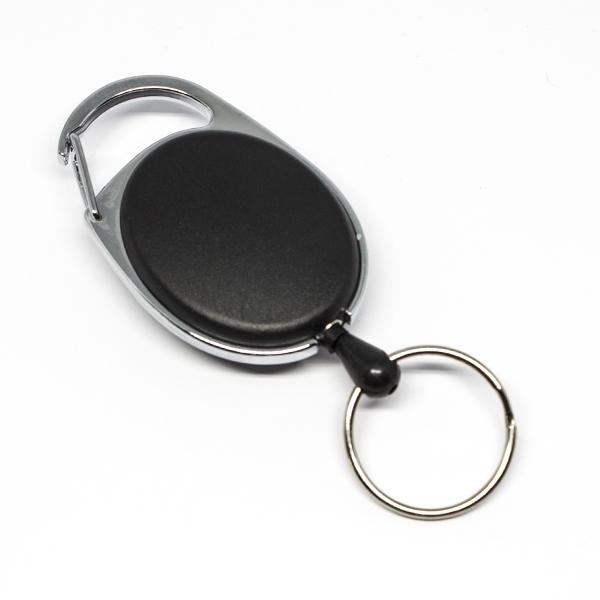 En praktisk og kraftig yoyo med nylonsnor, stærk fjederbelastet metalkrog og nøglering.