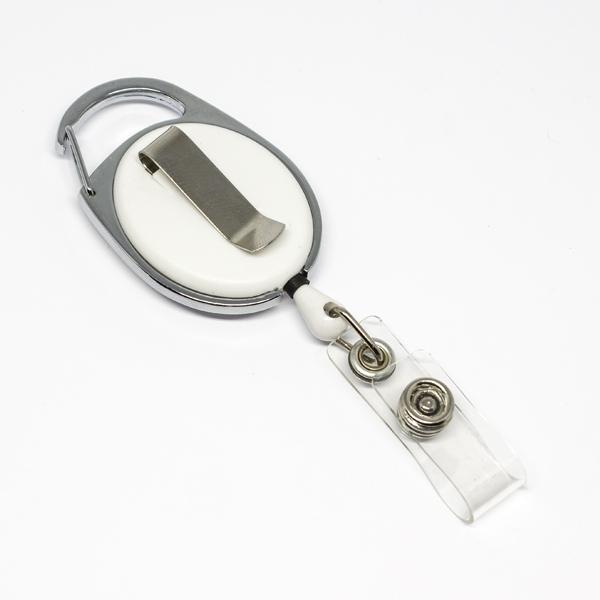 praktisk og kraftig yoyo med nylonsnor, stærk fjederbelastet metalkrog, bælteclip og metaltryklås på båndet.