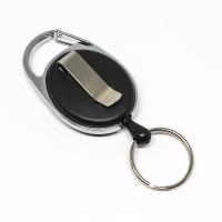 praktisk og kraftig yoyo med nylonsnor, stærk fjederbelastet metalkrog, bælteclip og nøglering.