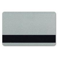 Sølv plastkort med blank overflade og HiCo magnetstribe, billige plastikkort fra RD Data