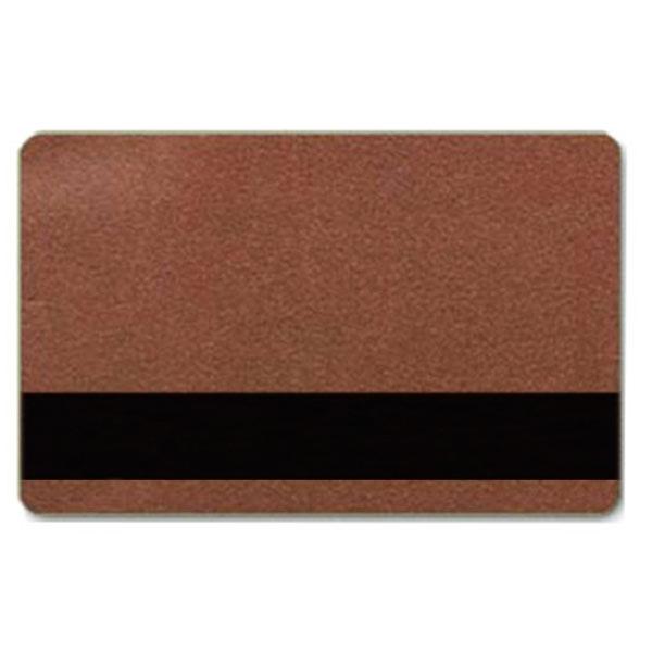 Bronze plastkort med blank overflade og HiCo magnetstribe.