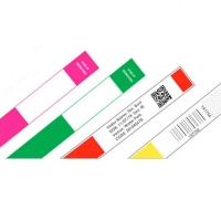 ID-armbånd til etiketprinter, hvid rulle med 250 stk, fra RD Data