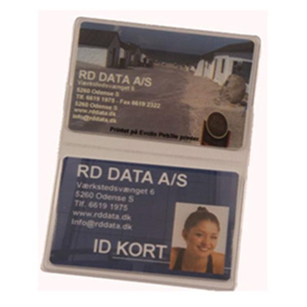 Transparent etui i blød plast, 2-fløjet til 2 kort, fra RD Data