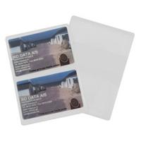 Hvidt etui i blød plast, 2-fløjet til 2 kort, fra RD Data