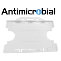 Antibakteriel kortholder til 2 kort, hvid, til medicinalindustrien, sundhedssektoren, hjemmeplejen mv., fra RD Data