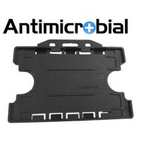 Antibakteriel kortholder til 2 kort, sort, til medicinalindustrien, sundhedssektoren, hjemmeplejen mv., fra RD Data