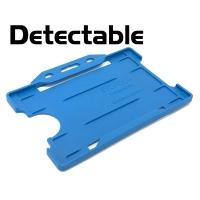 Detekterbar, antibakteriel kortholder, blå, udviklet specielt til fødevareindustrien, fra RD Data