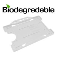 Biologisk nedbrydelig kortholder af 100 % genbrugsplast, transparent, miljøvenlig kortholder fra RD Data