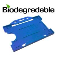 Biologisk nedbrydelig kortholder af 100 % genbrugsplast, blå, miljøvenlig kortholder fra RD Data