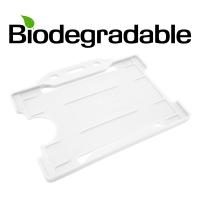 Biologisk nedbrydelig kortholder af 100 % genbrugsplast, hvid, miljøvenlig kortholder fra RD Data