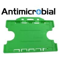 Antibakteriel kortholder til 2 kort, grøn,  til medicinalindustrien, sundhedssektoren, hjemmeplejen mv., fra RD Data