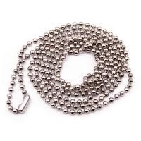 Metalkæde (kugleled) m/lås, længde 90 cm, stort udvalg i plastkort og tilbehør hos RD Data