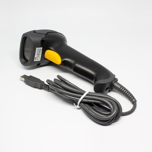 Stregkode Scanner IS900, håndholdt, læser alle gængse 1D og 2D stregkoder. Læser fra alle overflader, inkl. mobiltelefon/skærm. Scanningsvinkel minimum +/- 42 grader. USB tilslutning, signal med LED og bip. Fra RD Data