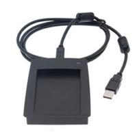 EM kortlæser (R10D-USB-8H10D), 125 kHz læser til EM4100, 4102, 4200, 4305, TK4100 og andre kompatible chips. 10 cifre decimalt output, USB til Keyboard- interface. Alt i plastkort, kortprintere og tilbehør hos RD Data