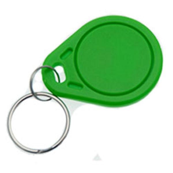 Nøglevedhæng/Key Change med TK4100 kompatibel chip,  Grøn/grønne overflader  Format: 40 x 30 x 3 mm.  Denne chip understøtter kortlæsere til EM 4100, EM 4102 og EM 4200.