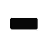 Plastkort sort, mat 120x50