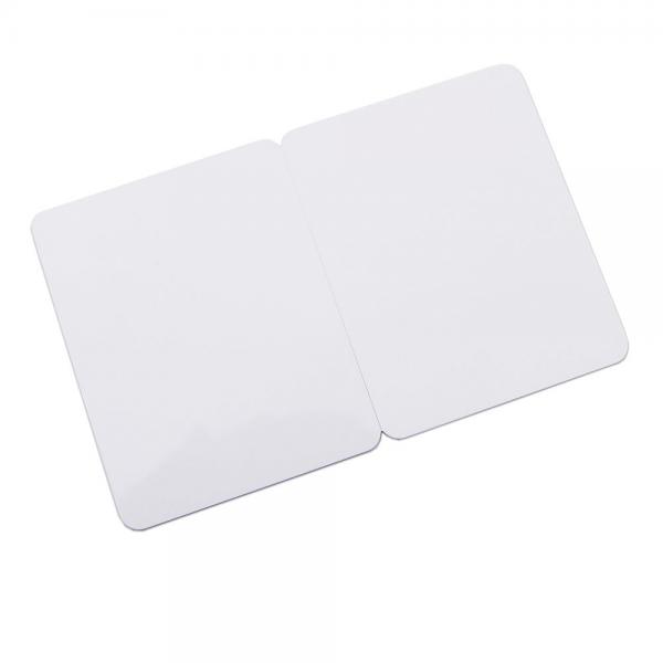 Plastkort hvid, 2-delt