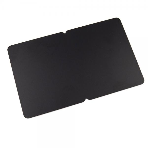 Plastkort sort, 2-delt
